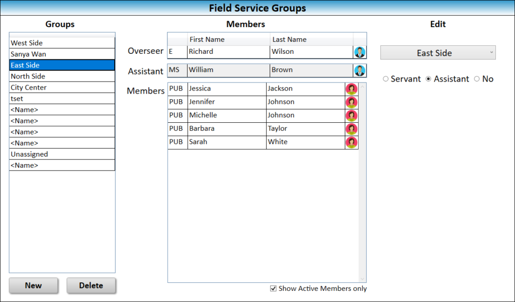 JW Scheduler Congregation Field Service Groups