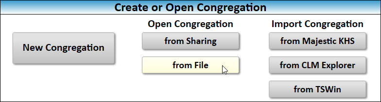 JW Scheduler Open Congregation from File