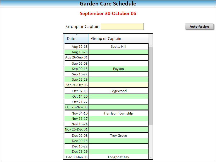 JW Scheduler Schedule Lawn and Garden Care