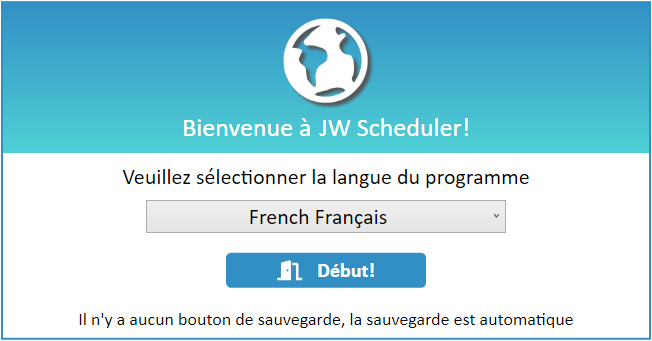 JW Scheduler Welcome French